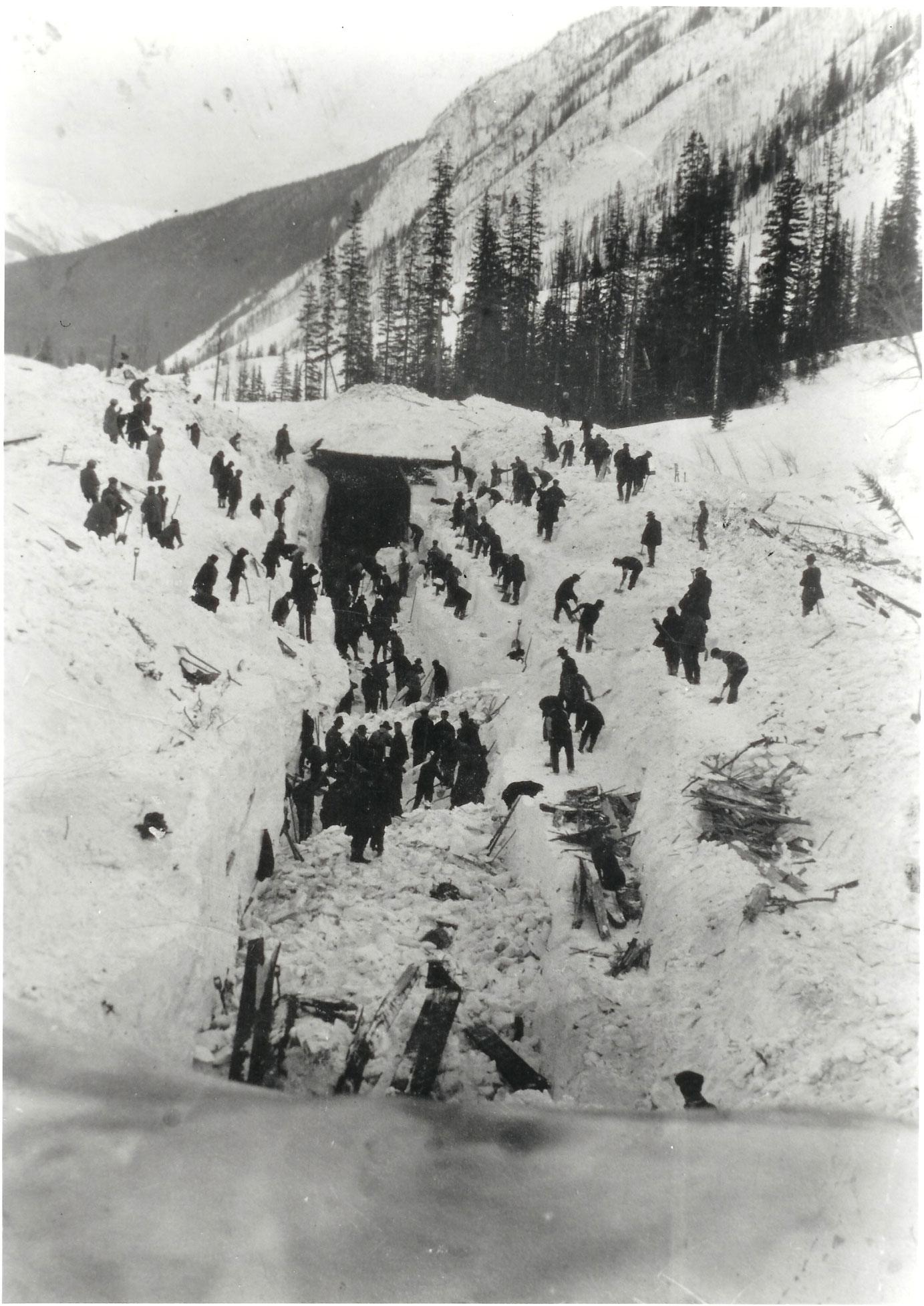 Alud de nieve en Rogers Pass (1910)