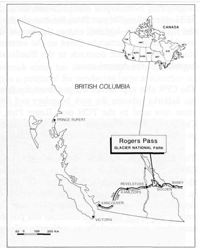 Situación geográfica de Rogers Pass (Canadá)
